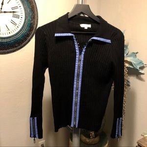 Belldini Bling Zip Front Cardigan